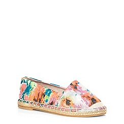 Evans - Extra wide fit blurred print espadrilles