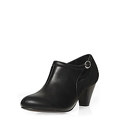 Evans - Extra wide fit black suedette shoe boot