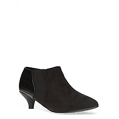 Evans - Extra wide fit black fabric mix shootie