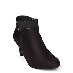 Evans - Evans extra wide black high elastic shoe boots
