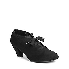 Evans - Extra wide fit black laceup shootie
