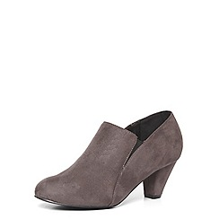 Evans - Extra wide fit grey elastic shoe boots