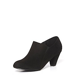 Evans - Extra wide fit black elastic shoe boots