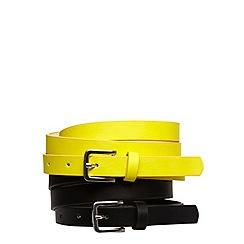 Evans - Lime 2 pack narrow width belts