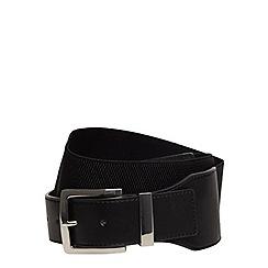 Evans - Black stretch waist belt