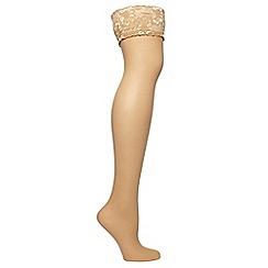 Evans - Nude lace hold ups