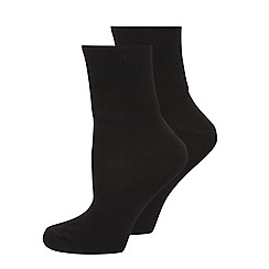 Evans - Black comfort socks 2 pack