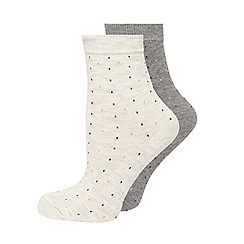 Evans - Black spotty socks 2 pack