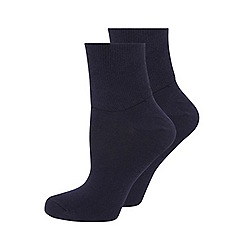 Evans - Navy comfort socks 2 pack