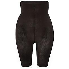 Evans - Black high waisted comfort shorts