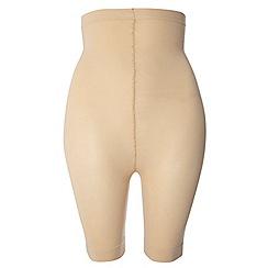 Evans - Nude high waist comfort shorts