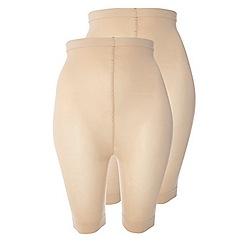 Evans - Nude comfort short 2 pack