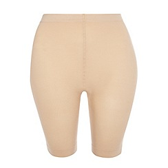 Evans - Nude 2 pack of comfort shorts