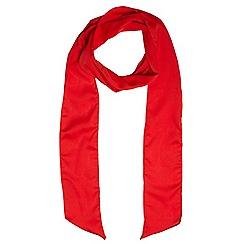 Evans - Red long skinny scarf