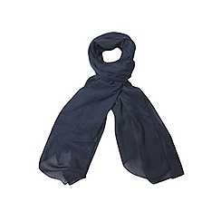 Evans - Blue textured scarf