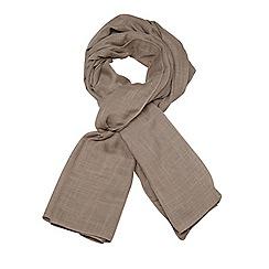 Evans - Neutral textured scarf