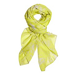 Evans - Yellow floral print scarf
