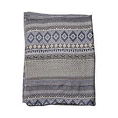 Evans - Evans aztec print lurex scarf