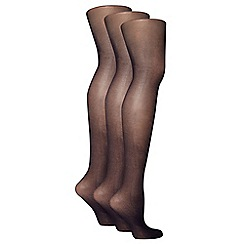 Evans - Navy 3 pack of 20 denier tights