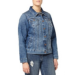 Evans - Midwash denim jacket