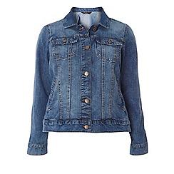 Evans - Blue midwash denim jacket