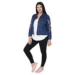 Evans - Denim embroidered jacket