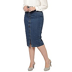 Evans - Midi denim pencil skirt
