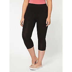 Evans - Black improved fit cropped leggings