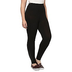 Evans - Black ankle length leggings
