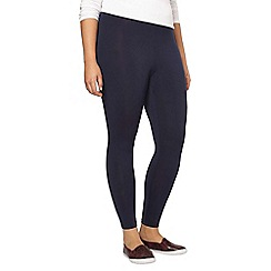 Evans - Navy ankle length leggings