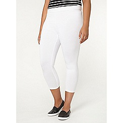 Evans - White cropped leggings