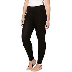 Evans - Black 2 pack of leggings