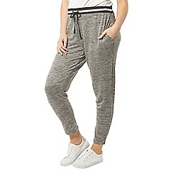 Evans - Grey contrast waistband joggers