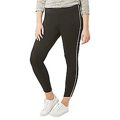 Evans - Black piped leggings