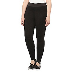 Evans - Black ponte stirrup leggings