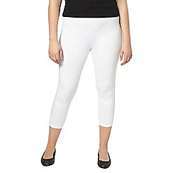 Evans - White crop leggings
