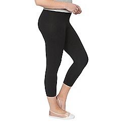 Evans - Black crop leggings 2-pack
