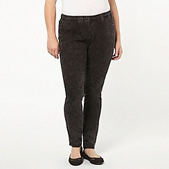Evans - Black acid wash jeggings