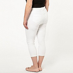 Evans - White crop jeggings