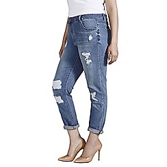 Evans - Rip and patch boyfriend jean