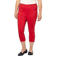 Evans - Red crop jeggings