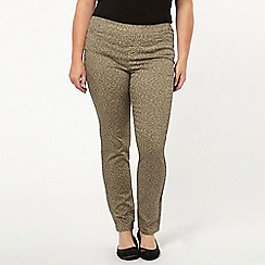 Evans - Grey animal print jegging