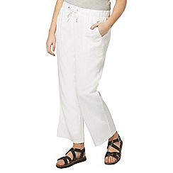 Evans - White linen blend trousers