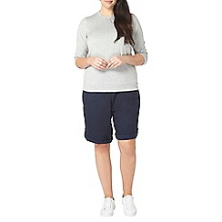 Evans - Navy cotton shorts