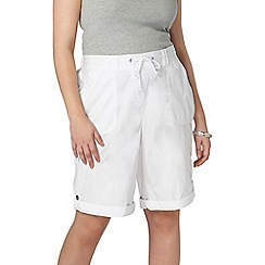Evans - White cotton shorts