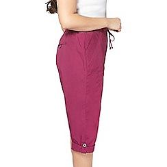 Evans - Black/purple cotton cropped trousers 2 pack
