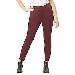 Evans - Berry red flat jeggings