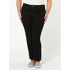 Evans - Black pear fit straight leg jeans
