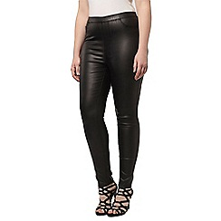 Evans - Black coated jeggings