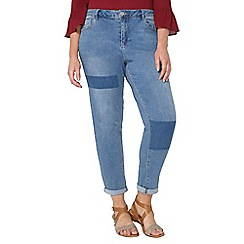 Evans - Shadow patch boyfriend jeans